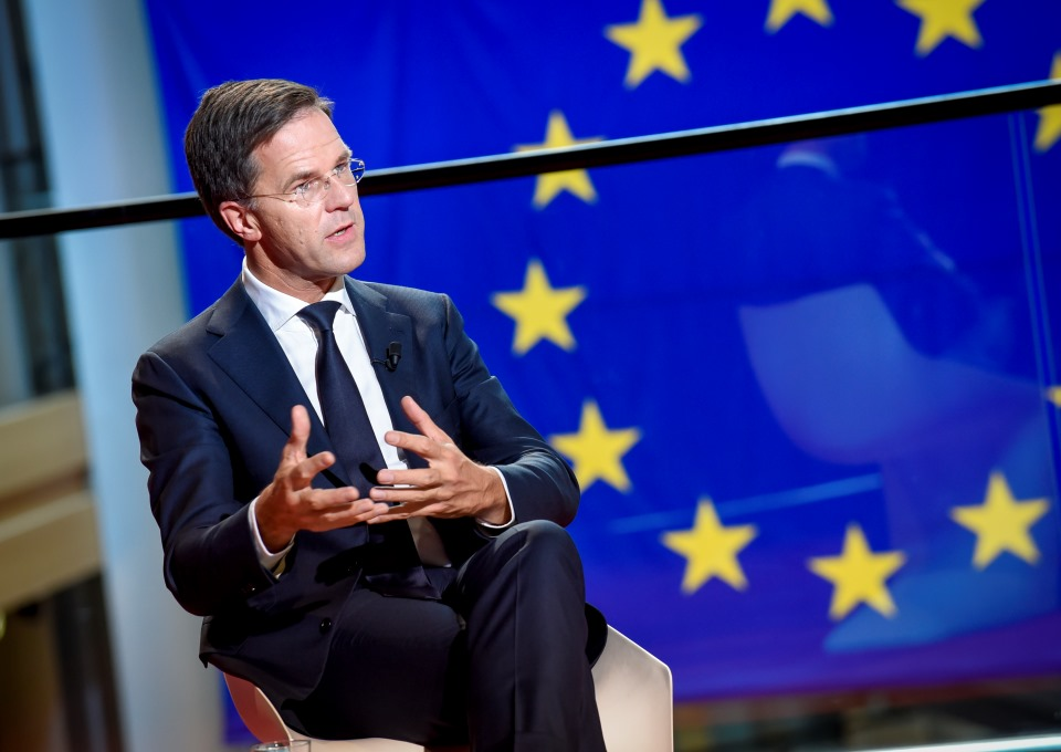 Mark Rutte bij EU - Foto: European Union / Genevieve ENGEL